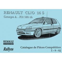 Catalogue  Pieces  Clio 16S  Gr A