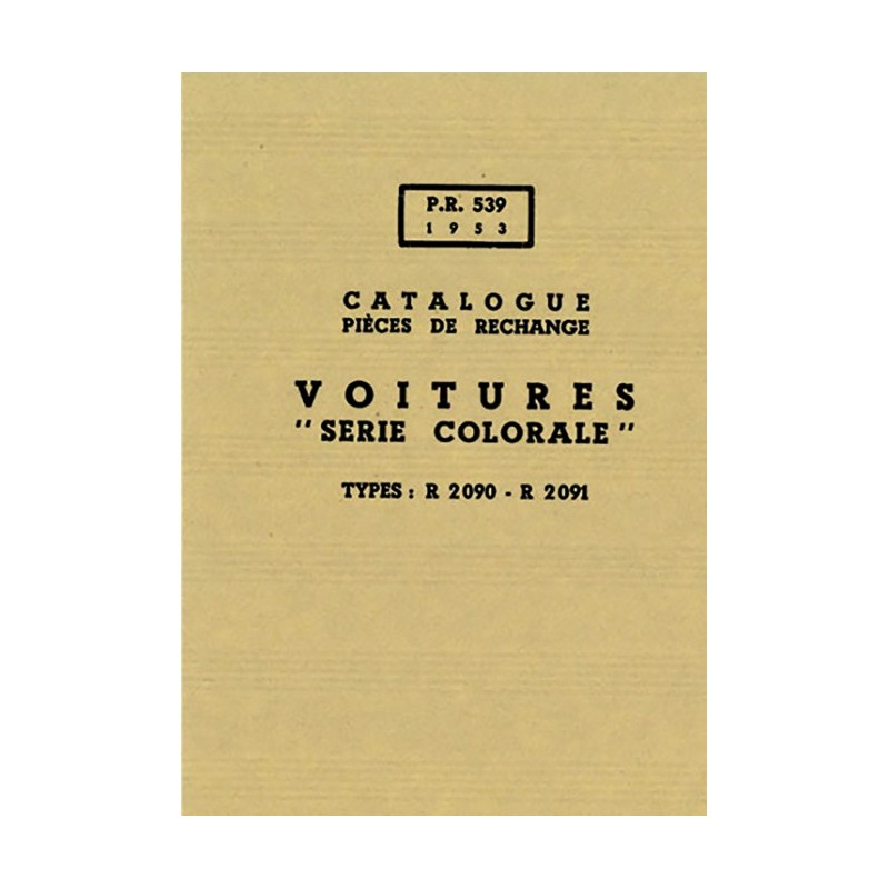 Catalogue de Pieces R 2090 / 91