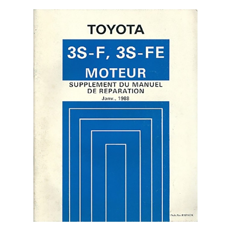 Manuel Atelier Moteur 3S-F 3S-FE
