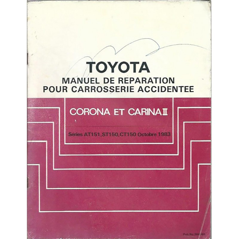 Manuel Atelier Carrosserie 1983