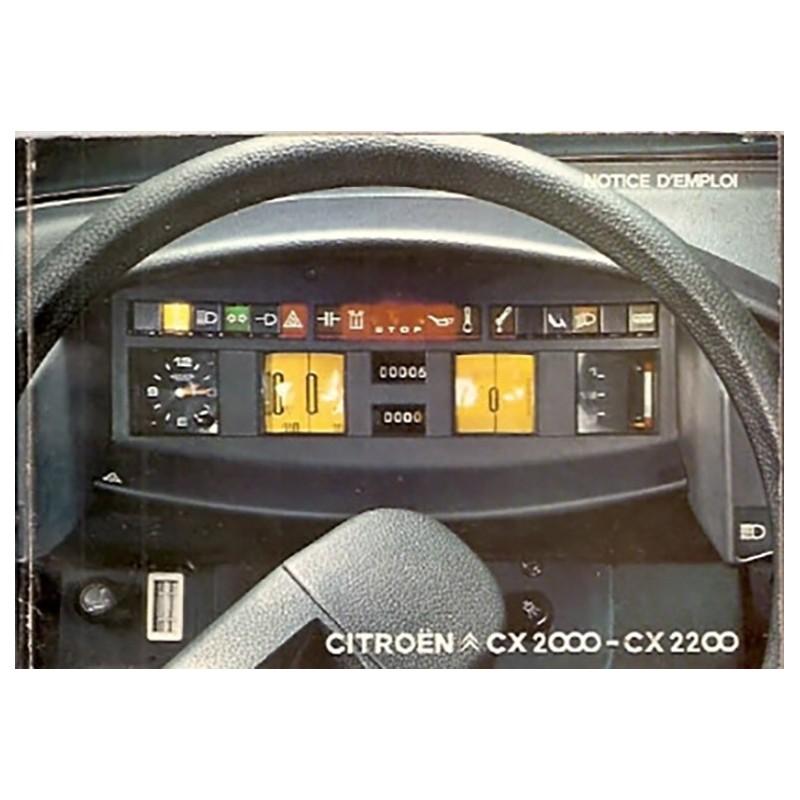 Notice d' Entretien CX 2000 - 2200
