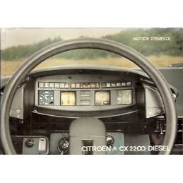 Notice d' Entretien CX 2200 Diesel