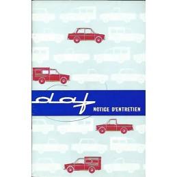 Notice Entretien 1964