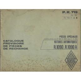 Catalogue Pieces R 1090 / 1090 A