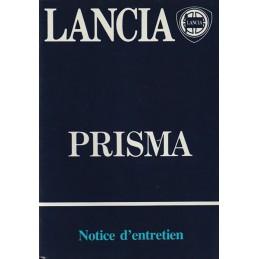 Notice d' Entretien  Prisma 1985