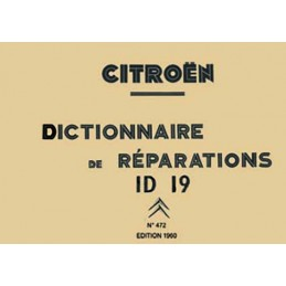 Dictionnaire Reparations ID 19