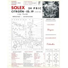 Fiche Technique Solex  ID 19