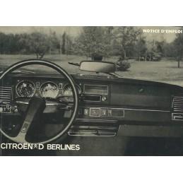 Notice Entretien DS 20/DS 21 1973