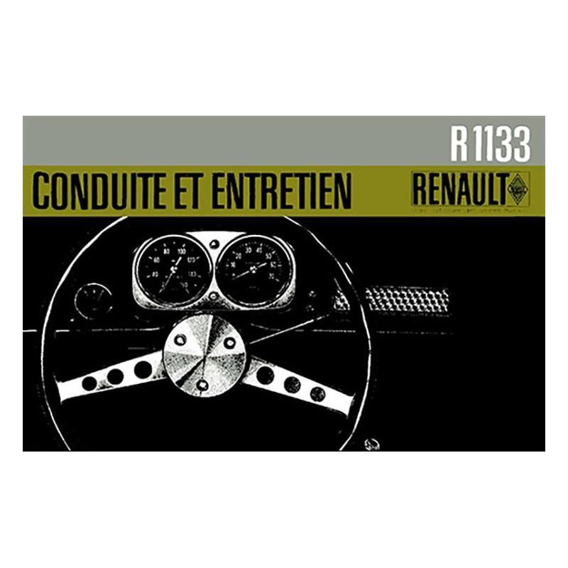 Notice d' Entretien R 1133 1965