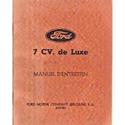 Notice d' Entretien  Ford 7 CV