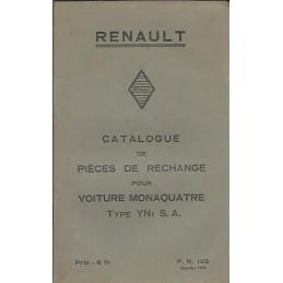 Catalogue de Pieces YN 1 S.A.