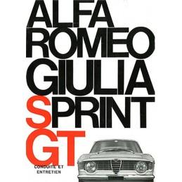 Notice Entretien Sprint GT 1966