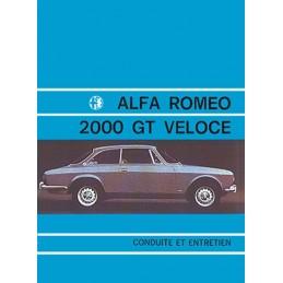 Notice Entretien  2000 GTV 1971