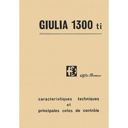 Manuel Technique Giulia 1300 Ti