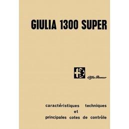 Manuel Technique Giulia 1300