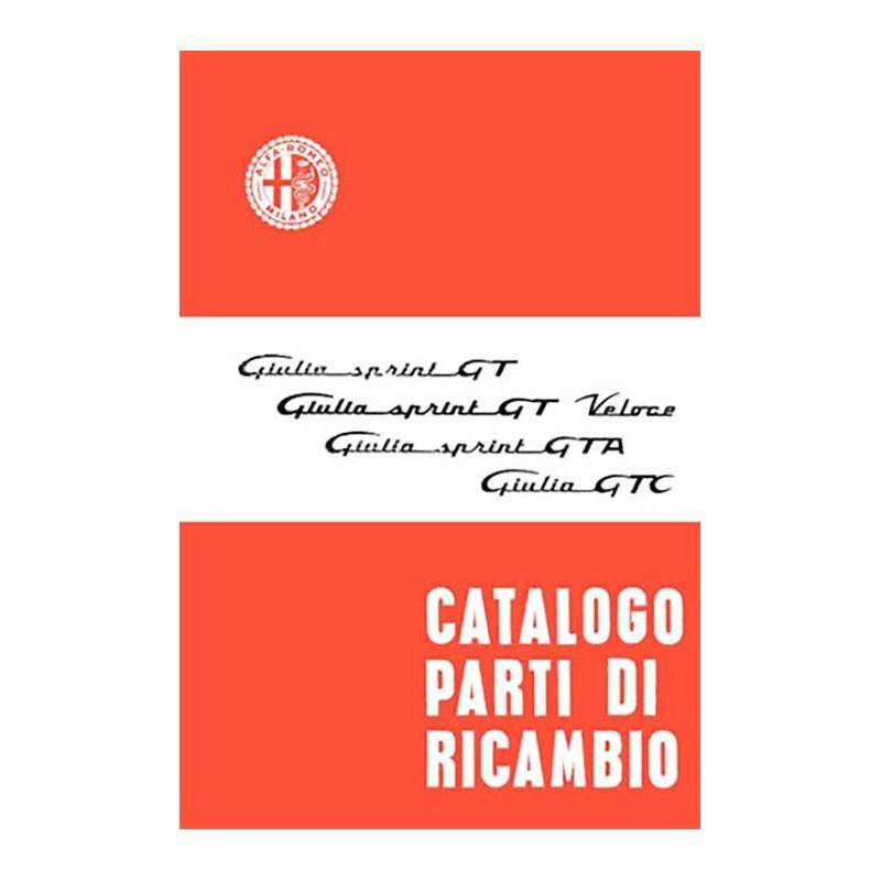 Catalogue Pieces GT / GTV / GTA GIULIA De Alfa Roméo