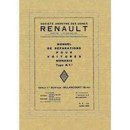 Manuel d' Atelier  Monasix  RY 2