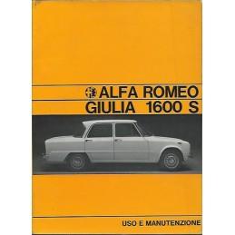 Notice Entretien Giulia 1600S 1969