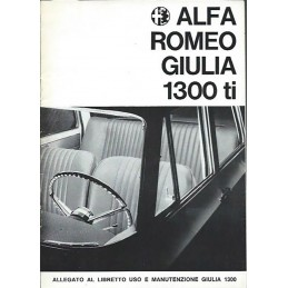 Notice Entretien 1300 Ti 1966