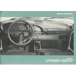 Notice Entretien GS  1976